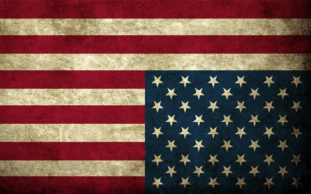 Bandiera Usa al contrario